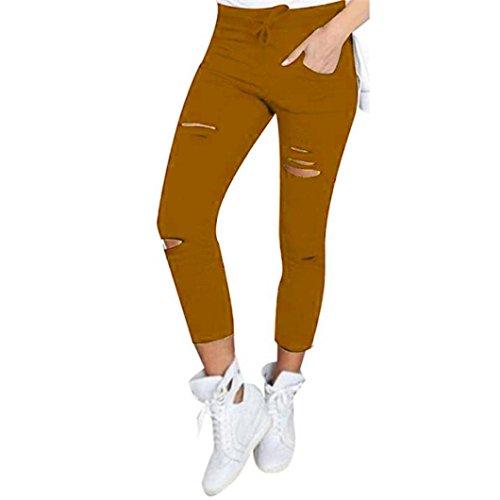 HKFV - Leggings sportivi -  donna Khaki S
