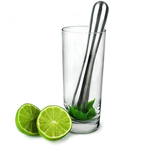 Edelstahl Stößel von bar @ drinkstuff | modernes Stilvolles Design perfekt für Cocktails.