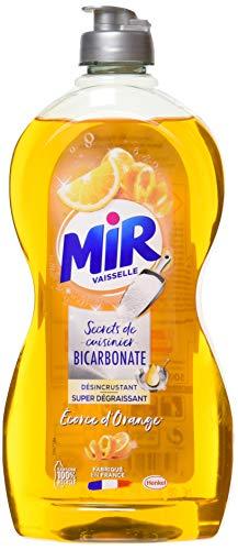 Mir Vaisselle Secrets de Cuisinier - Liquide Vaisselle  - Bicarbonate & Ecorce d'orange - 500ml
