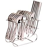 Shapes Cosmic Cutlery Set Of Spoons And Fork 24 Pcs. With Round Stand