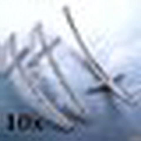 LTWL 10 piezas de plata de los granos del espaciador del Rhinestone del cristal plateado de la Cruz para hacer la joyeria de
