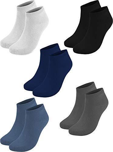 20 Paar Sneaker Socken für Sie und Ihn - Viele Trendige Farben und Größen 35-50 wählbar! - Qualität von normani Farbe Marine/Jeans/Grau/Weiß/Schwarz Größe 37/42 (Grau Marine-tex)
