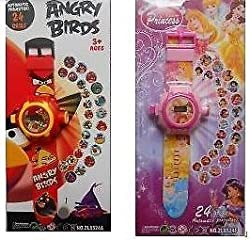 Super Power Combo Of Princess And Angry Bird Projector Watch For Kids