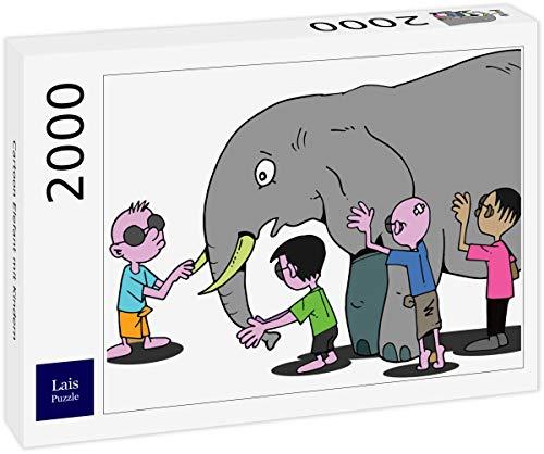 Lais Puzzle Elefante con niños 2000 Piezas