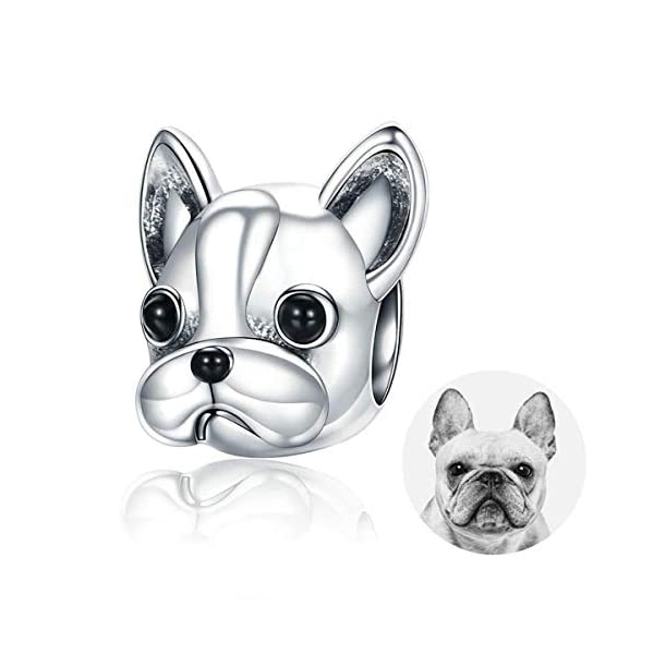 925 Sterling Silver Dog Charm, Cute Loyal Partners Puppy French Bulldog Doggy Animal Pet Bead Charms fit Pandora Charms for Pandora Bracelets Jewellery, Birthday, Anniversary, Animal Lovers BJ09001 41FFZo8xDAL