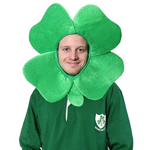 Mymyguoe St Patrick's Day irischer Kleeblatt Hut Süß St Patrick Tageshut Iren Kleeblatt Hut Irland St. Patrick Abendkleid Kostüm Zusatz für Partei Dekoration