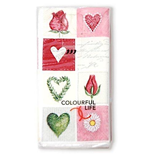 Bedruckte Motiv Taschentücher mit DESIGN Love Puzzle 10 Stück - Taschentücher für die Freudentränen