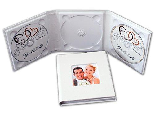 Hochzeit-dvd-hülle (3er CD/DVD/BluRay Hülle. DVD Case für 3 Disk mit 1 Bildfenster.)