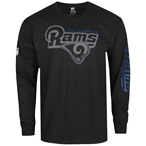 Majestic JOEL Longsleeve - NFL Los Angeles Rams schwarz - M (La Rams Shirt)