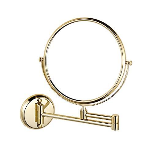 MRJ Espejos de Pared Espejo de Baño Espejo de Aumento Doble Eje 360 ° Giratorio Extensible Espejo...