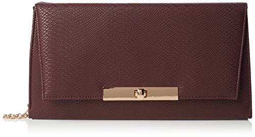 New Look Damen Amber Snake Tasche, Red (Dark Burgundy), One Size