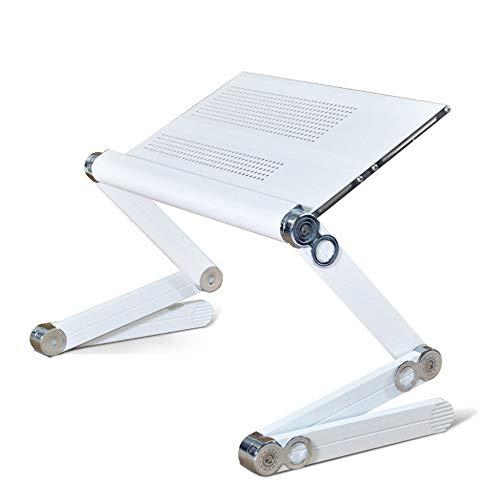 ZOUQILAI Einstellbare Laptop Tisch Portable Aluminium Faltbare Notebook Schreibtisch Notebook Cooling Pad Für Bett und Sofa Computer Tisch (Farbe : Weiß) (Hund-tisch Kindersitz)