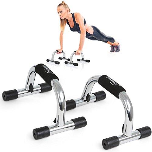 Physionics Liegestützgriffe Liegestütze Griffe Fitness Workout Fitness Push Up Stand Bar im 2er-Set max. Belastung 100 kg