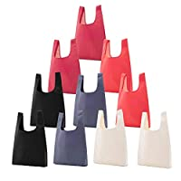 Ewendy 10Pcs Reusable Grocery Bags Foldable Shopping Bags Large Tote Bags Bulk Lightweight Environmental protection Foldable Household Supermarket Shopping Bag
