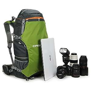 Hama-Caseman AOB6 Verde Custodia per fotocamere Dslr e Slr, Zaino con copertura impermeabile, per fotocamere Canon Nikon Sony Pentax Fuji