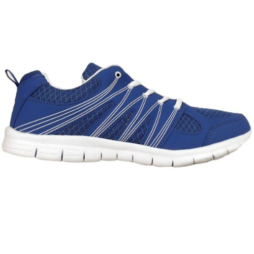 Herren Stoßdämpfende Laufschuhe Jogging Fitnessstudio Turnschuhe Schuhe UK 7-12 Blau/Weiß