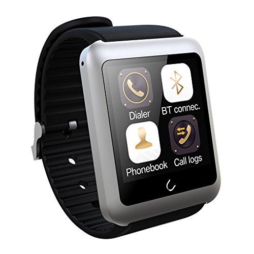 Excelvan U11 - Smartwatch Bluetooth Reloj Inteligente para Smartphone Móviles de Android/iOS, Plateado