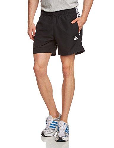 adidas ESS 3S Chelsea - Pantalón corto para hombre, color negro/blanco, talla XXL