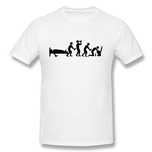 Hangover Evolution Short Sleeve T Shirt für neuesten T-Shirt, Herren, weiß (T-shirt Freunde Toms)