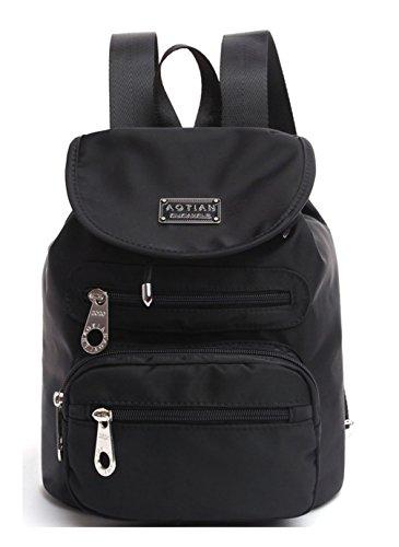 Keshi Nylon neuer Stil Damen accessories hohe Qualität Einfache Tasche Schultertasche Freizeitrucksack Tasche Rucksäcke Schwarz