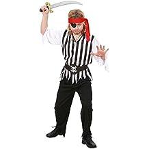NET TOYS Costume da pirata maschera di Carnevale abito da bucaniere - 12 -  14 anni 31746c688fab