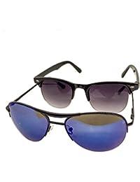 Sunglasses | Wayfarer And Aviator | Combos Of Wayfarer And Aviator For Men And Women | Polarized And UV Protected...