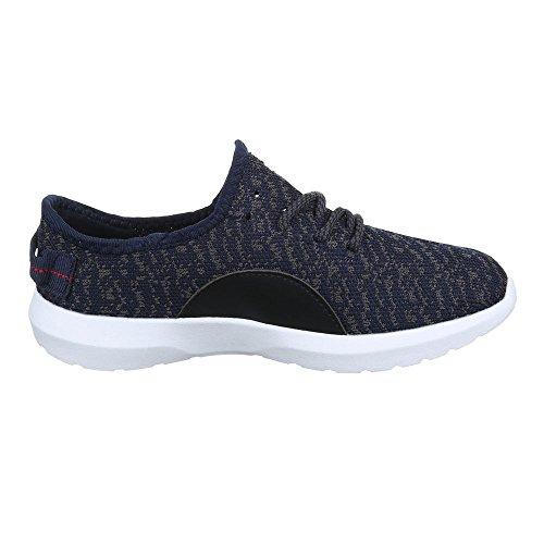 Sneakers für Damen und Herren Unisex Freizeitschuhe Sportschuhe Blau Grau