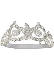Babeyond Damen Stirnband 1920s Stil Great Gatsby Party Accessoires Silber Kristall Haarband Braut Stirnband