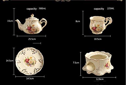 britannico Tazza di Tè E Piattino de la mejor calidad Juego Europeo Tazza di Porcellana Tazza di Ceramica Tazze di Caffè Set de Ceramica Avanzata Per regalida YOLIFE ( Color : 001 , Size : 2 cup )