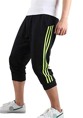 c0973fb465 Hooleeger 3/4 Hose Herren Jogginghose Trainingshose Oversize Sporthose Capri  Hose