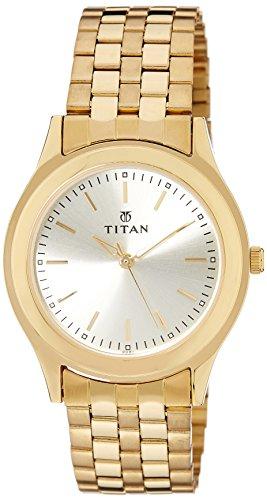 41FFhsgLYVL - Titan 1648YM02 Gold Mens