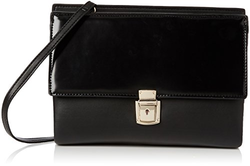 French Connection Clean Pu Carina Clutch 2,  Nero Nero