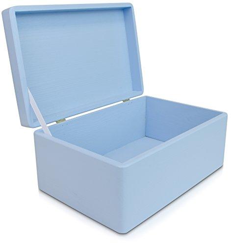 baby-birth-for-baby-boy-wooden-keepsake-box-blue-painted-pine-30-x-20-x-14-cm-venkonr