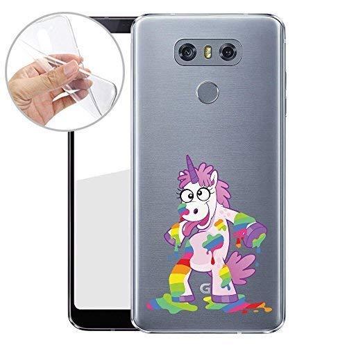 Finoo TPU Handyhülle für dein LG G6 Made In Germany Hülle mit Motiv und Optimalen Schutz Silikon Tasche Case Cover Schutzhülle für Dein LG G6 - Einhorn malt - Malt Crystal