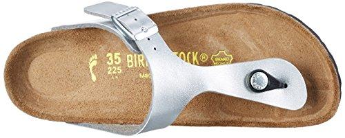 Birkenstock Gizeh - Tongs mixte adulte Argent