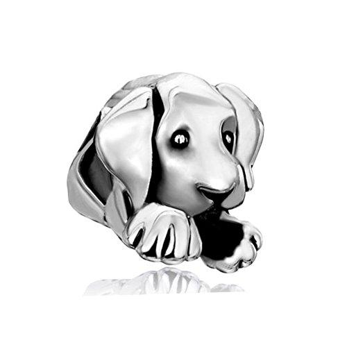 uniqueen Schmuck Cute Puppy Dog Pet Animal Charms Bead Verkauf Billig für Pandora/Troll/Chamilia Charm Armband (Verkauf Pet)