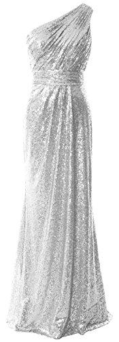 MACloth - Robe - Moulante - Sans Manche - Femme silver