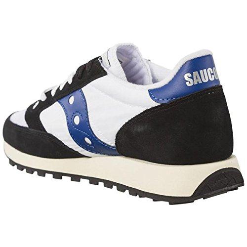 Saucony Herren Jazz Original Vintage Sneaker, Olive/Bianco, 40 EU Schwarzweiß