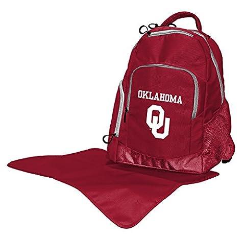 NCAA Oklahoma Sooners Diaper Backpack, 17 x 13.5 x 7-Inch, Red