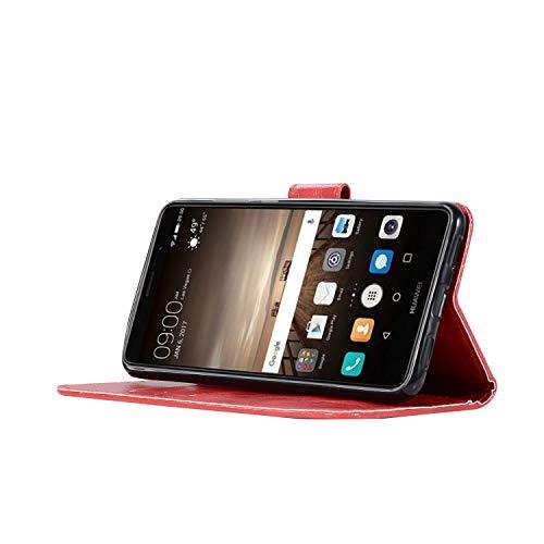 Wkae Housse de Protection pour Huawei Y7 2017 Haut de Gamme rétro Motif de Mode Flip PU Portefeuille en Cuir