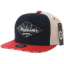 WITHMOONS Gorras de béisbol Gorra de Trucker Sombrero de Snapback Hat Diamond Faux Leather Patch Flat