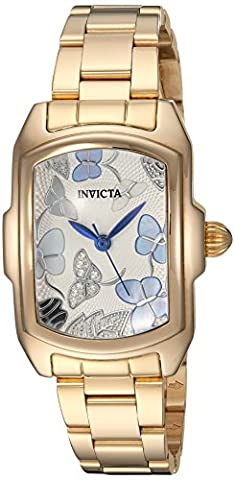 Invicta Women's 'Lupah' Quartz Stainless Steel Casual Watch, Color:Gold-Toned (Model: 23219)