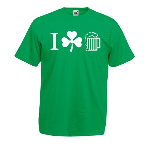 Männer T-Shirt The Symbols of St. Patrick's Day - Irish Icons (X-Large Grün (Irish Jig Kostüm)