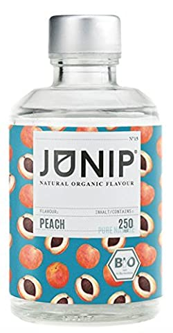 Bio Peach Aroma Concentrated for Water, Cocktail Drinks - Food Fragrance for a 100% Organic Vegan Taste - no Sugars or Carbohydrates - Few Calories - Made in Germany by Junip