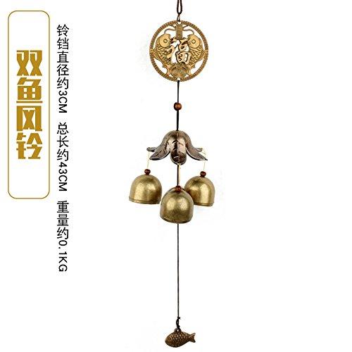 Öffnen BAGEHAN Legierung Wind Chime Home Zubehör Fortune Campanula Tianling Shop Sicherheit Türklingel, C -