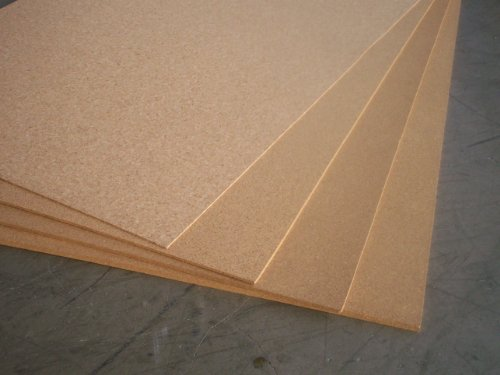 KORKplatte 2mm stark x 600 x 900 mm = 0,54 m² pro Platte