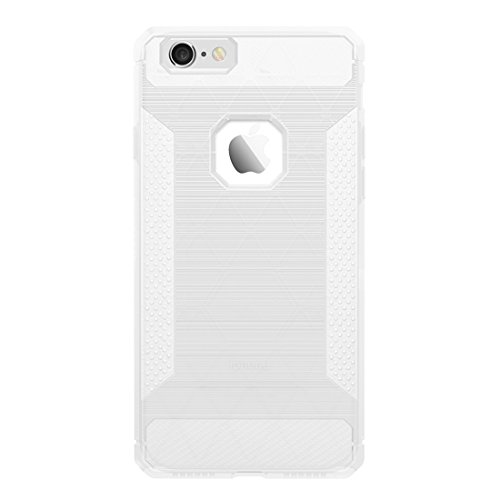 Wkae Brushed Carbon Fiber Texture Shockproof TPU Schutzhülle für iPhone 6 & 6s ( Color : Red ) Transparent