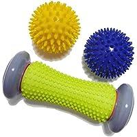 Foot Roller Massage Ball para alivio Fascitis plantar y reflexología Masajeador para tejido profundo Recuperación de acupresión para PLA Relajación Foot Back Pierna Músculo apretado con la mano