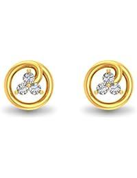 P.N.Gadgil Jewellers 22KT Yellow Gold Stud Earrings for Women