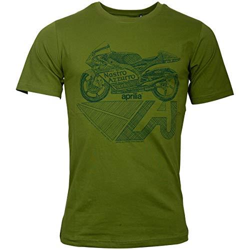 Aprilia Racing Vintage T-Shirt Mugello grün (XXL) -